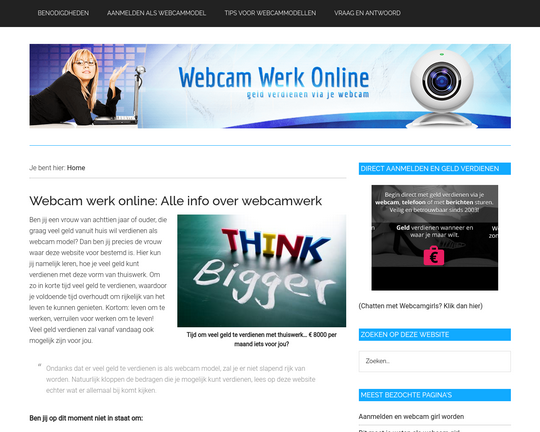 Webcam werk online